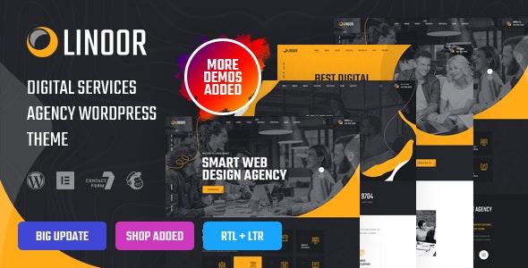 Linoor - Digital Agency Services WordPress Theme - Business Corporate