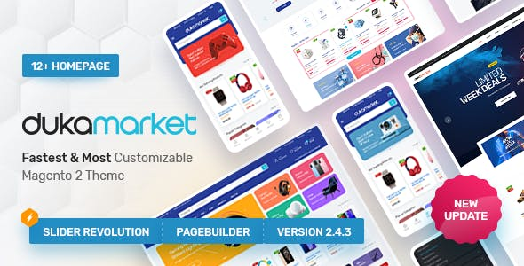 Dukamarket - Multipurpose Responsive Magento 2 Theme