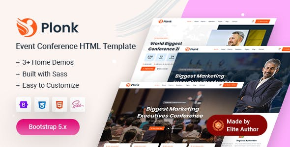 Plonk - Event Conference Template