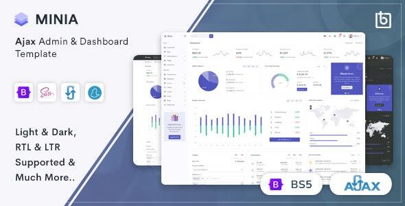 Minia - Ajax Admin & Dashboard Template - Admin Templates Site Templates