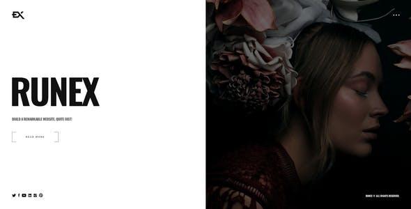 Runex - One Page Portfolio Template