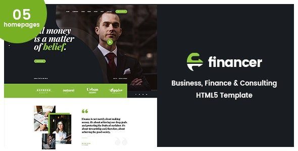 Financer   Business Consulting & Finance HTML5 Template - Corporate Site Templates