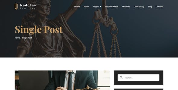 Kodelaw - Lawyer Attorney Elementor Template Kit