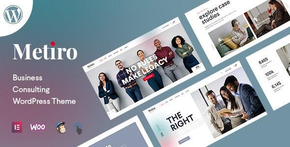Metiro - Business Consulting WordPress Theme - Business Corporate