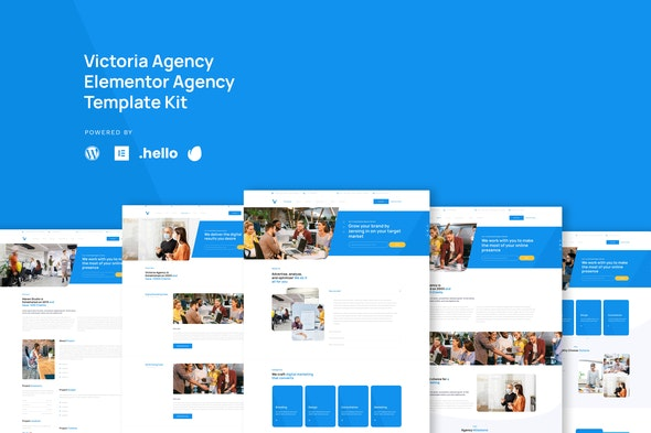 Victoria - Agency & Business  Elementor Template Kit - Business & Services Elementor