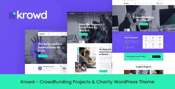 Krowd - Crowdfunding & Charity WordPress Theme