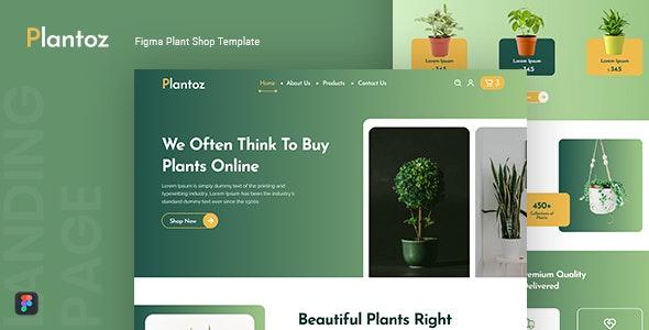 Plantoz — Plant Shop Figma Template - Shopping Retail