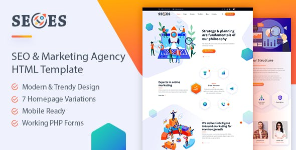 Seoes - Marketing Agency HTML Template