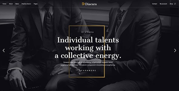 Diacara – WordPress Theme For Law Firm & Attorneys