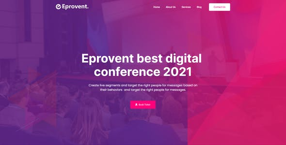 Eprovent - Creative Event Conference Adobe XD Template