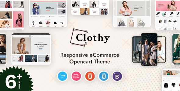 Clothy - Responsive OpenCart Theme - Fashion OpenCart