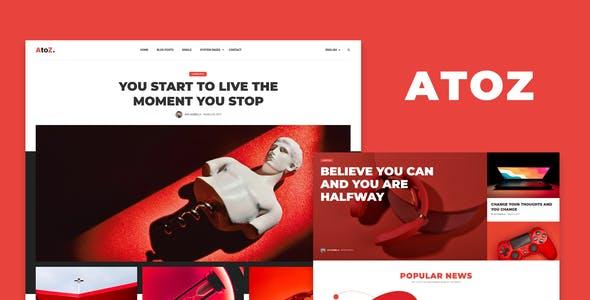 AtoZ - Blog & Magazine Elementor Template Kit