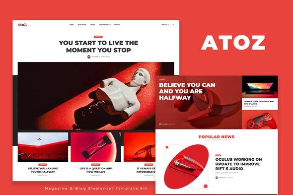 AtoZ - Blog & Magazine Elementor Template Kit - News & Magazines Elementor