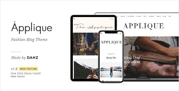 Fashion Blog Theme - Applique - Personal Blog / Magazine