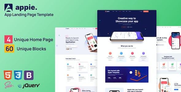 Appie - app landing page