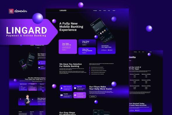 Lingard - Payment & Online Banking Elementor Template Kit - Technology & Apps Elementor