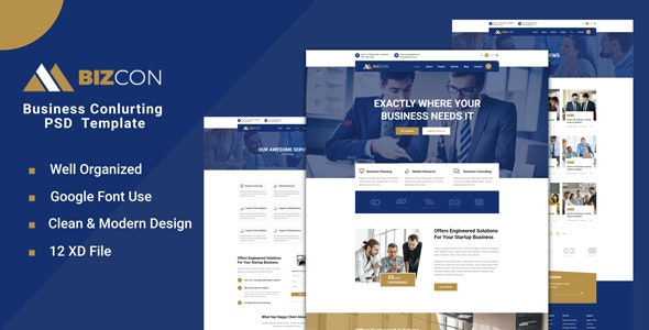 Bizcon - Business Consulting XD Template - Business Corporate