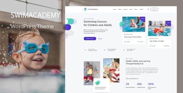 SwimAcademy - Course Booking WordPress Theme