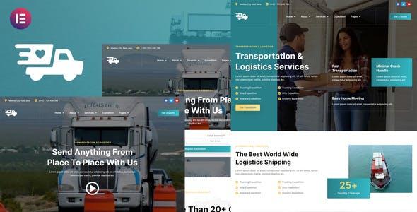 Antar - Transportation & Logistics Elementor Template Kit