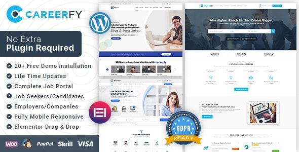 Careerfy - Job Board WordPress Theme - Directory & Listings Corporate