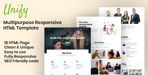 Unify - Multipurpose HTML Template - Business Corporate