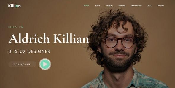 Killian - Personal Portfolio Template - Portfolio Creative