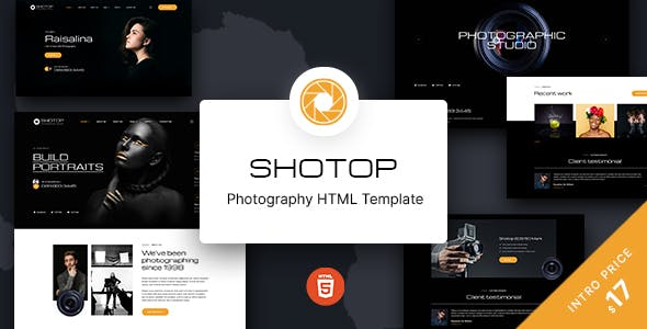 Shotop – Photography HTML Template