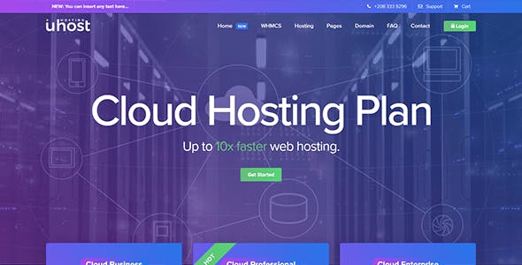 Uhost - Web Hosting & WHMCS Template 2 in 1