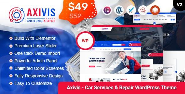 Axivis - Car Services & Repair WordPress Theme