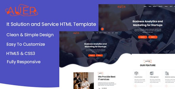 Auer - Creative & It Solution HTML Template