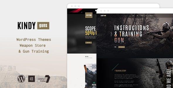 Kindy – Guns WooCommerce WordPress Theme