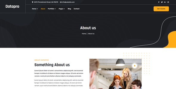 Datapro - Creativ Agency Elementor Template Kit