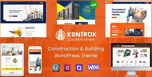 KonTruk - Construction & Building Elementor WordPress Theme - Business Corporate