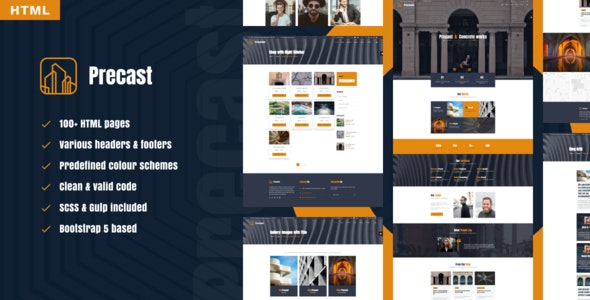 Precast - industrial HTML template - Corporate Site Templates