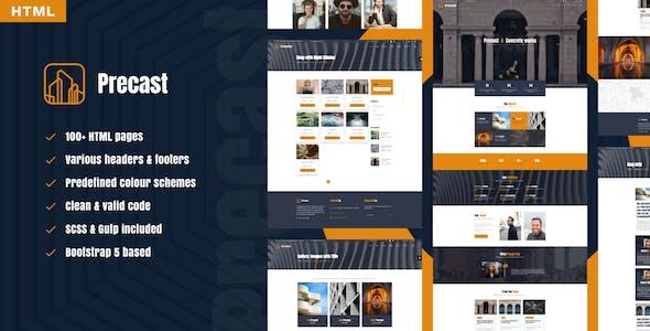 Precast - industrial HTML template