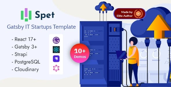 Spet - Gatsby React IT & Business Startup Template