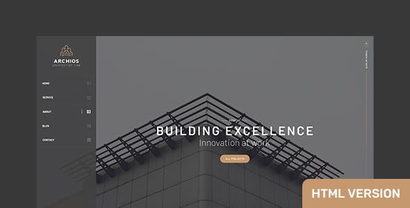 Archios - One Page Architecture HTML Template