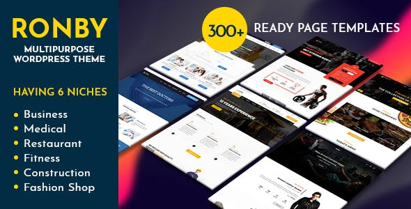 Ronby   6 Niche Business Multi-Purpose WordPress Theme