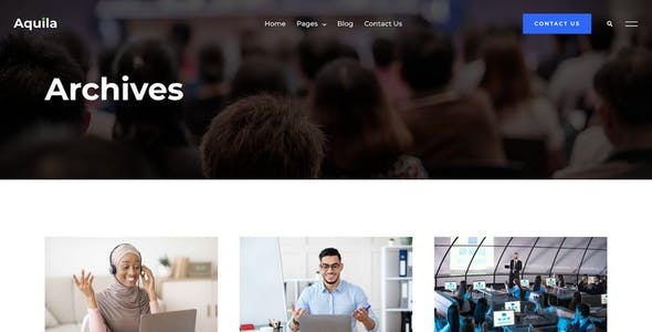 Aquila - Webinar & Digital Conference Elementor Template Kit