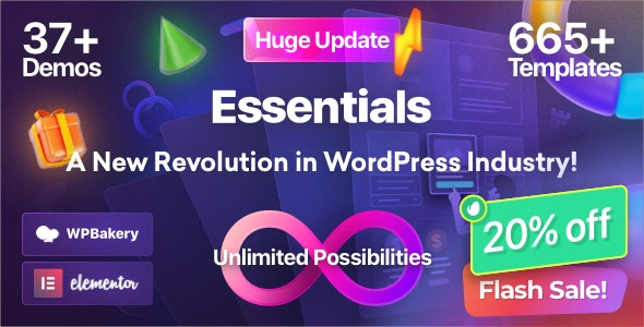 Essentials   Multipurpose WordPress Theme - Business Corporate