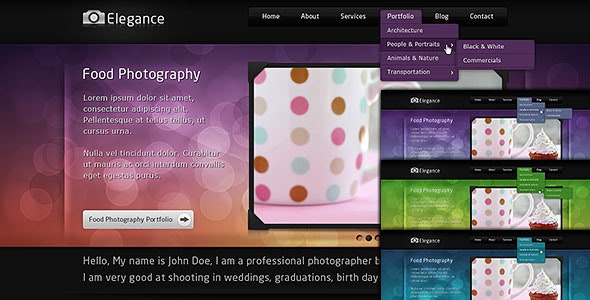 Elegance - Portfolio and Blog - Portfolio Creative