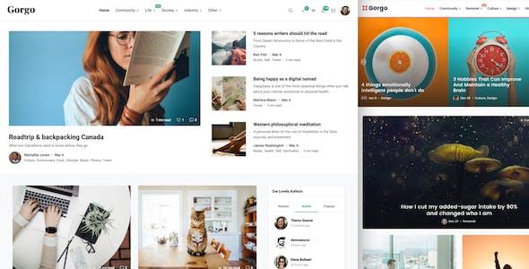 Gorgo - Multi-Purpose Collaborative Blog & Community BuddyPress Theme