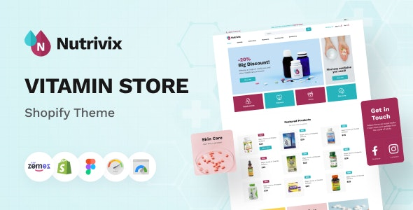 Nutrivix - Shopify Vitamin Store Theme, Food Supplements - Health & Beauty Shopify