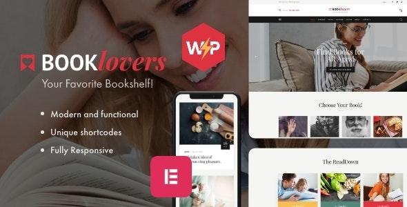 Booklovers - Publishing House & Book Store WordPress Theme + RTL - WooCommerce eCommerce