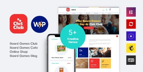 Chit Club   Board Games Club & Anticafe WordPress Theme - WooCommerce eCommerce