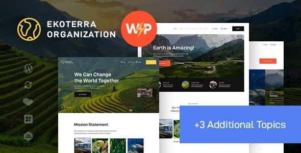 Ekoterra - NonProfit & Ecology WordPress Theme - Environmental Nonprofit