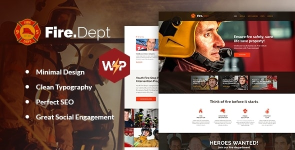 Fire Department - FD Station and Security WordPress Theme - Nonprofit WordPress