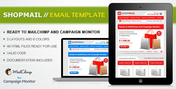 Shop Mail - HTML Email Template - Email Templates Marketing