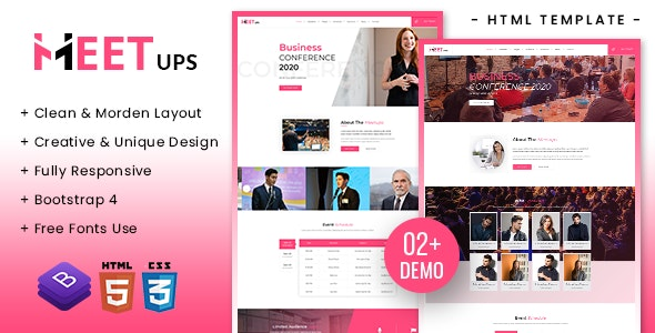 Meetups - Conference & Event Html Template - Marketing Corporate