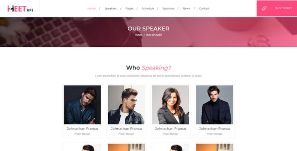 Meetups - Conference & Event Html Template